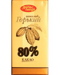 Bitter chocolate Cocoa content: 80% minimum