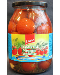 Pickled cherry tomatoes with dill