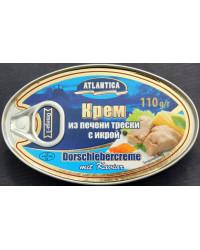 Cod liver cream with caviar