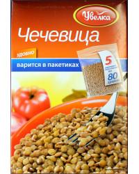 Lentils in cooking bag