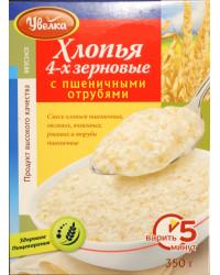 4-grain flakes with wheat bran