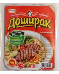 Noodles with beef flavor
