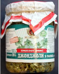 Pickled flowers of bladdernut